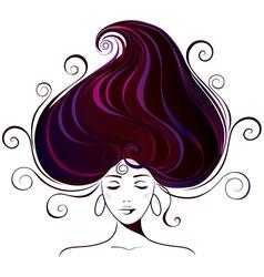 beautiful young woman vector image vector image