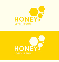 logo of bee honey stylish and modern logo for vector image