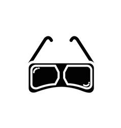 contour 3d glasses to see movie in the cinema vector image