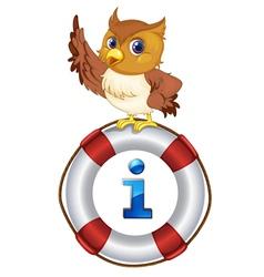 Owl Kiosk Sign vector image vector image