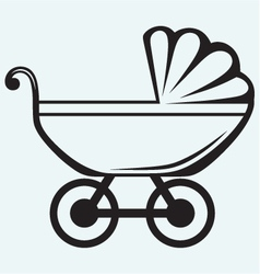 Pram Baby carriage vector image