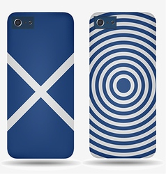 Rear covers smartphone with flags of Scotland vector image