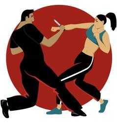 Self-defense for women vector image vector image