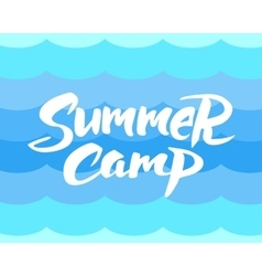 Summer camp hand drawn brush lettering vector image vector image
