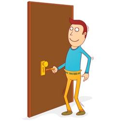 Unlocking the door vector