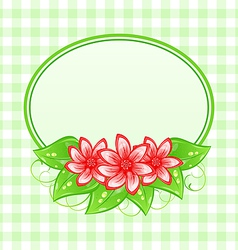Cute spring card with flowers and leaves vector image