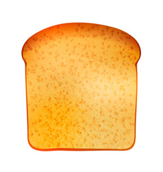 realistic tasty toast isolated on white vector image vector image