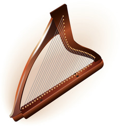 Traditional Irish celtic harp vector image