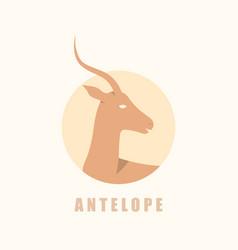 african antelope logotype vector image