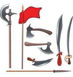 Ancient weapons setAncient weapons set vector image