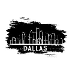 dallas texas usa city skyline silhouette vector image