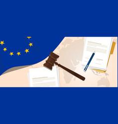 europe union eu law constitution legal judgment vector image