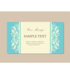 floral vintage card blue vector image vector image