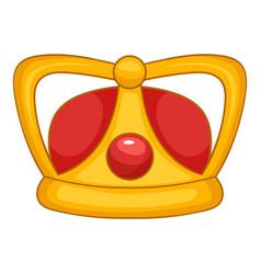 royal crown icon cartoon style vector image