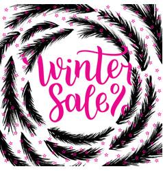 Winter sale lettering design vector