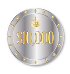 10000 dollar chip vector