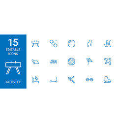 15 activity icons vector
