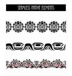 Abstract background native north american set vector