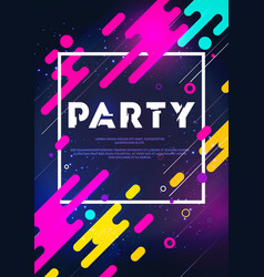 abstract retro background party poster vector image