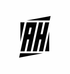 Ah logo monogram with modern style concept design vector