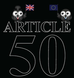 Article 50 uk exit from european union vector