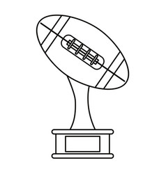 Ball trophy shape american football award outline vector