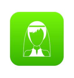 beautiful bride icon digital green vector image