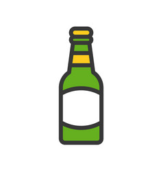beer bottle feast of saint patrick filled icon vector image