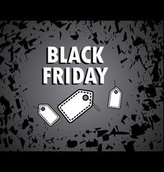 black friday concept sale bang shards banner vector image