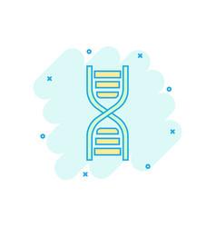 cartoon dna icon in comic style medecine molecule vector image