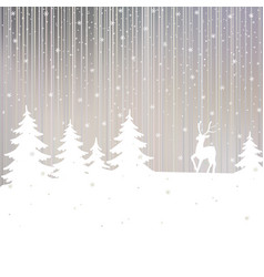 Christmas background winter landscape vector