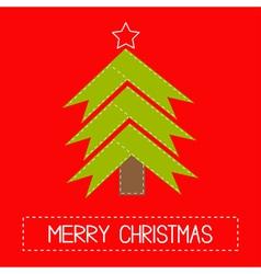 Christmas tree made of ribbons Card vector