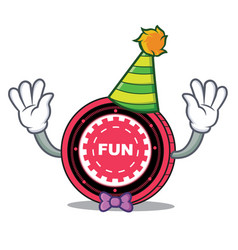 Clown funfair coin mascot cartoon vector