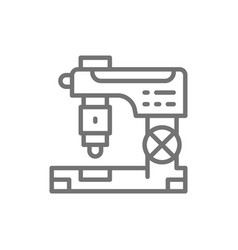 cnc milling machine laser metal cutting vector image
