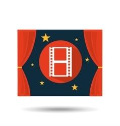 Concept cinema theater film strip graphic design vector