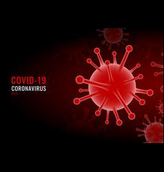 Coronavirus covid19-19 virus red background vector