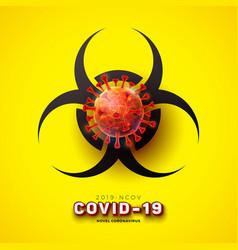 covid19-19 novel coronavirus concept design vector image