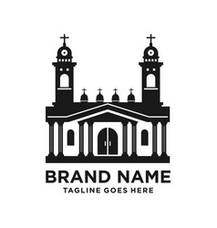 design church building silhouette logo vector image