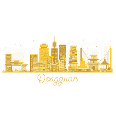 dongguan china city skyline golden silhouette vector image