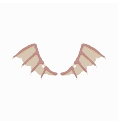 Dragon wings icon cartoon style vector