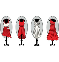 Dresses on a mannequin vector