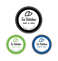eco package label round sticker vector image
