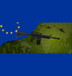 europe union eu military power army defense vector image