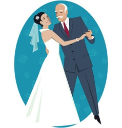 Father of the bride waltzing with his daughter vector image