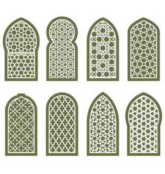 Figured arabian window ornament - arabesque vector