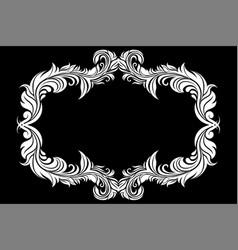 Filigree floral frame ornamental decoration on vector