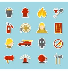Firefighting icons stickers vector image