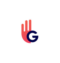 g letter hand gesture ok logo icon vector image
