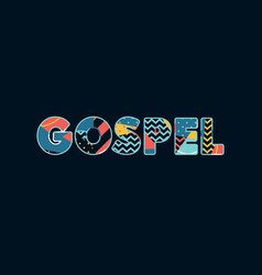 Gospel concept word art vector