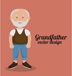 Grandparents character design vector